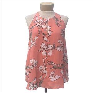 Ann Taylor Loft floral print sleeveless blouse
